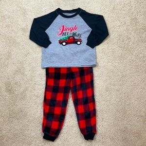 Kids Holiday #Fam Jams Set, Red Truck Theme, 2/3T